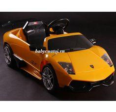 Ô tô điện trẻ em Lamborghini Murcielago LP 670-4 SV (xe bản quyền) màu vàng