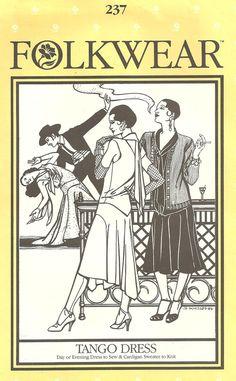 Folkwear Pattern Tango Dress 237 size 6 8 10 12 14 16 year 1982. $15.50, via Etsy.