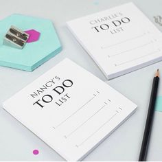 Our pair of mini classic notepads make great gifts for couples or even to split chores between siblings. What would you use them for? - - #xoxostationery #xoxogifts #stationeryaddict #stationery #giftideas #notepad #notes #lists #handprinted #smallbusiness #noths #etsy #stationerybrand #personalisedstationery #organiser #todolist