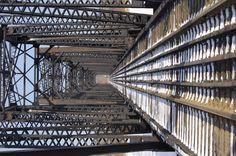 Railway bridge in Prince Albert, Saskatchewan.