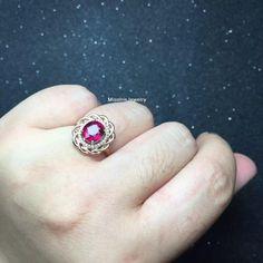 Tourmaline Engagement Ring by MissIrisJewelry on Etsy