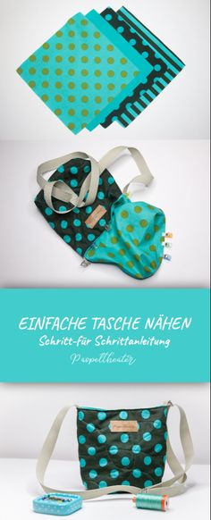 Sew a simple bag - step by step instructions for beginners - Sew a simple bag – sewing instructions for beginners Informations About Einfache Tasche nähen – - Bag Sewing, Free Sewing, Fabric Crafts, Sewing Crafts, Sewing Projects, Knitting Projects, Diy Projects, Diy Hanging Shelves, Sewing Hacks