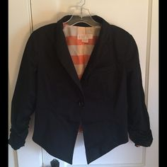 Michael Kors blazer In great condition, rouched sleeves, one button MICHAEL Michael Kors Tops