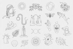 Dainty Tattoos, Small Tattoos, Witch Clipart, Handpoke Tattoo, Witch Tattoo, Simplistic Tattoos, Aesthetic Tattoo, Line Tattoos, Tatoos