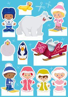 Exclusief! Een winterse editie van Chloe's populaire knipvel. Hiermee maak je bijvoorbeeld een vrolijke kijkdoos. Tip: van watjes maak je mooi een winters, wit, donzig winterlandschap. Veel plezier! #knutseltip