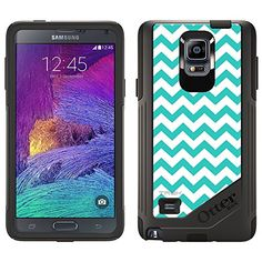 OtterBox Commuter Samsung Galaxy Note 4 Case  Chevron Zig Zag Turquoise White OtterBox Case * Learn more by visiting the image link.