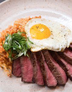 Serve up steak and eggs tonight, korean-style.