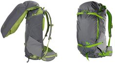 Compartmentalized Camping Gear — Everything has its place in the Kelty PK 50 backpack, made for backpacking beginners looking for direction on how to stow gear in a pack (as well as experts obsessed with organization). The pack has no zippers — instead, a roll-top body and fold-out panels offer all the storage space.