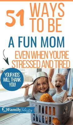 Feeling stressed lately? Try having some fun with your kids on purpose! This list is full of easy ways to be a fun mom today! Positive parenting tips. Parenting Advice, Kids And Parenting, Parenting Classes, Parenting Styles, Parenting Quotes, Peaceful Parenting, Gentle Parenting, Parenting For Dummies, Fille Au Pair