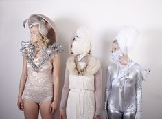 Hats and headdresses by millinery student Ehster Rydin