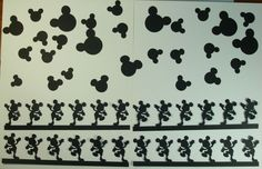 MICKEY MOUSE BORDERS AND HEADS.......e-33 scrapbooking cricut die cuts   DISNEY