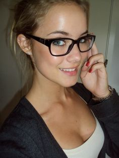 glasses girls Busty nerdy with