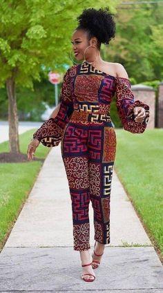 African Fashion Ankara, Latest African Fashion Dresses, African Print Fashion, Africa Fashion, African Style, African Print Jumpsuit, African Print Clothing, Ankara Jumpsuit, African Prints
