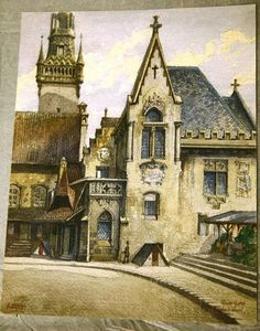 One of his paintings, a 100-year-old watercolor of the old registry office in Munich, has been sold at auction in Germany. | How Much Would You Pay For This Pretty Little Painting By Adolf Hitler?