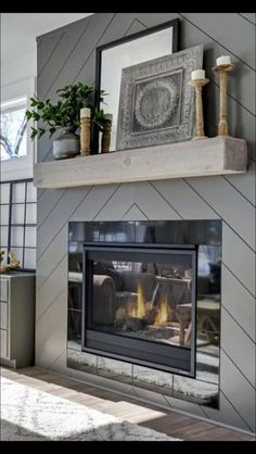 45 gorgeous modern farmhouse fireplace ideas you should copy now 57 « Home Decoration Bedroom Fireplace, Farmhouse Fireplace, Home Fireplace, Fireplace Remodel, Fireplace Design, Fireplace Ideas, Modern Fireplace Mantels, Modern Fireplaces, Shiplap Fireplace