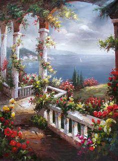 Original oil painting hand painted landscape/Seascape oil