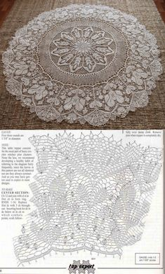a crochet pattern charm with free graphics - CROCHET Crochet Tablecloth Pattern, Crochet Stitches Patterns, Thread Crochet, Filet Crochet, Crochet Motif, Irish Crochet, Stitch Patterns, Crochet Round, Crochet Home