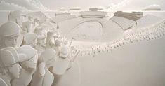 As incríveis esculturas de papel de Jeff Nishinaka.