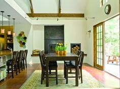 Cala Woods Residence and Studio - traditional - dining room - seattle - Johnson Squared Architecture + Planning