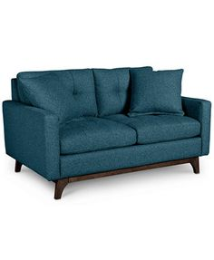 Nari Tufted Back Loveseat with 2 Toss Pillows- Custom Colors, Only at Macy's | macys.com
