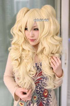48Hey, I found this really awesome Etsy listing at https://www.etsy.com/listing/191309519/67cm-light-yellow-blonde-long-curly-wave