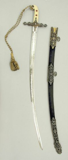 Saber with Scabbard.      Dated: circa 1856. Copyright © 2013 Metropolitan Museum of Art