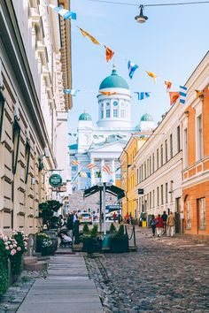 Things to do in Helsinki Finland: Shop at the colorful Market Square admire the magnificent Eastern Orthodox Uspenski Cathedral marvel at Helsinki Cathedral and explore the unique Temppeliaukio Kirkko (Rock Church). Helsinki, Beautiful Places To Travel, Best Places To Travel, Alaska, Asia City, Finland Travel, Lapland Finland, Ocean Cruise, Places Around The World