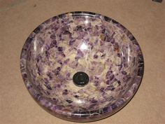 Amethyst Stone Sink : Amethyst Sink