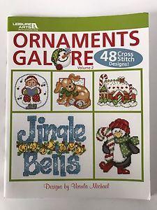 Ornaments Galore Book Vol 2 by Leisure Arts 48 Christmas Cross Stitch Charts  | eBay
