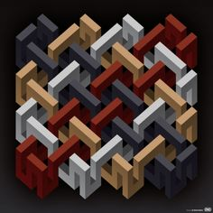Solid Knit by Daniele De Nigris   Cool Geometric Artworks