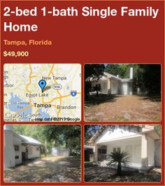 2-bed 1-bath Single Family Home in Tampa, Florida ►$49,900 #PropertyForSale #RealEstate #Florida http://florida-magic.com/properties/8535-single-family-home-for-sale-in-tampa-florida-with-2-bedroom-1-bathroom