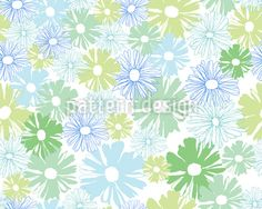 Daisies In The Morning Repeating Pattern Pattern Designs, Vector Pattern, Repeating Patterns, Vector File, Daisies, Home Textile, Surface Design, Flower Designs, Web Design
