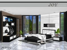 Sims 4 CC's - The Best: Joy Bedroom by NynaeveDesign