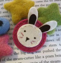 NO SLIP Wool felt hair clip -Bunny -baby -fuchsia by MayCrimson on Etsy https://www.etsy.com/listing/121845126/no-slip-wool-felt-hair-clip-bunny-baby