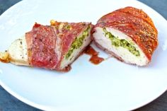 Pesto Stuffed & Proscuitto Wrapped Chicken Breasts (whole30, paleo, eatingclean, heatlhy eating, low carb)
