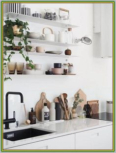 Kitchen Accessories You Didn't Know You Needed - Interior Design Ideas & Home . Kitchen Accessories You Didn't Know You Needed - Interior Design Ideas & Home Decorating Inspiration - moercar New Kitchen, Kitchen Decor, Kitchen Sink, Kitchen Ideas, Kitchen Modern, Kitchen Living, Vintage Kitchen, Kitchen Plants, Kitchen Industrial