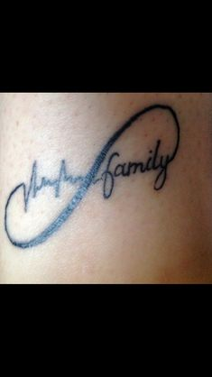 Infinity tattoo - heartbeat & family