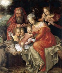 """Jacob_de_Backer - 25 December – The Solemnity of the Birth of Our Lord Jesus Christ  Today the Church celebrates the Birth of Jesus Christ, the first day in the octave of Christmas.   Throughout Advent the Church longed ardently for the coming of our Saviour.   Today she celebrates His birth with unrestrained joy.   """"The Word was made flesh and dwelt among us.""""   The Son of God became man to give us a share in that divine life which is eternally His in the Blessed Trinity.   Christmas time…"""