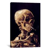 Found it at AllModern - 'Skull with Cigarette 1885' by Vincent Van Gogh Painting Print on Canvas