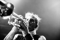 Josh playing the trumpet. Newark, NJ #ERS2017