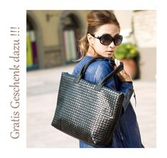 Schultertasche Shopper Schwarz Fashion 2014 Neu !!!
