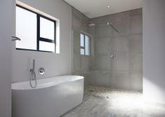 Rustic Industrial Concrete Bathroom Interior Design, 73 on Sleigh Langebaan Country Club Tub Tile, Wall Tiles, Cupboard Storage, Storage Drawers, Built In Vanity, Bathroom Cupboards, Concrete Bathroom, Building Contractors, Bathroom Interior Design