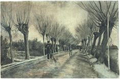 Vincent van Gogh, Road with Willows