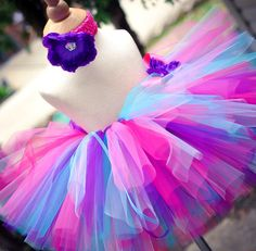 Purple Pink and Blue Tutu Set Baby Tutu and Toddler Tutu Includes Headband Set SEWN tutu on Etsy, $25.00