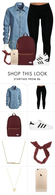 """Ehh simple."" by livelifefreelyy ❤ liked on Polyvore featuring Vale, Herschel Supply Co., adidas Originals, ZoÃ« Chicco, Joolz by Martha Calvo and Melissa Odabash"