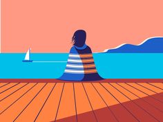 Sitting on the dock of the bay by Egle Petrauskaite