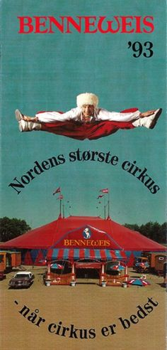 Advertising handout for Cirkus Benneweis (1993)