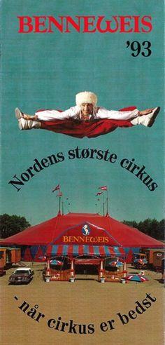 Advertising handout for Cirkus Benneweis (1993)