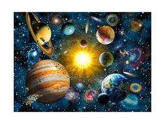Galaxy,Stars,Planets,Outer DIY Diamond Painting,Mosaic Paint Diamond Embroidery Cross Stitch Handmade Home Decor Solar System Painting, Space Solar System, Solar System Planets, Our Solar System, History Of Earth, Farm Quilt, Mosaic Diy, Painting Patterns, Original Image
