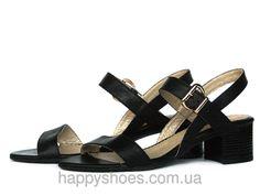 """Черные кожаные босоножки на устойчивом каблуке: продажа, цена в Запорожье. босоножки и сабо женские от """"HappyShoes"""" - 260869535"""